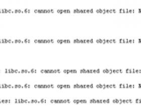 error while loading shared libraries: libc.so.6 误删除libc.so.6急救办法,