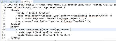 092417 0304 Django3 - Django 学习 模板使用复合数据