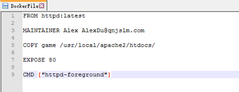 113017 0511 dockerfile1 - 通过dockerfile编译第一个docker文件,赶鸭子游戏