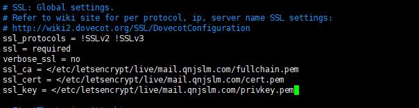 122117 1015 iRedMail5 - iRedMail邮件系统-使用SSL证书,让客户端不显示警告信息,Let's Encrypt证书使用