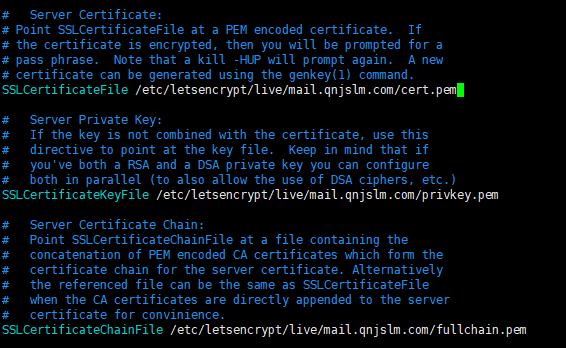 122117 1015 iRedMail6 - iRedMail邮件系统-使用SSL证书,让客户端不显示警告信息,Let's Encrypt证书使用