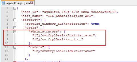 122317 1605 IISManagerA2 - IIS Manager API 创建一个普通账号来进行监控,降低安全风险