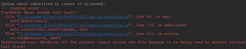 022419 1331 Djangologgi1 - Django在使用logging日志模块时报错无法操作文件PermissionError: [WinError 32]
